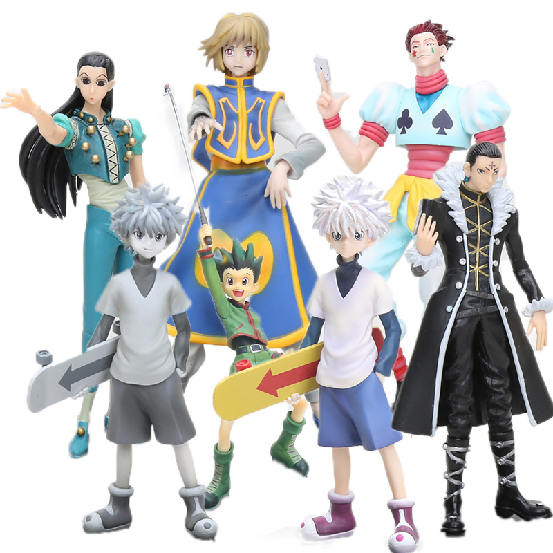 Охотник X Hunter 20 см игрушки Gon Freecss, ПВХ фигурка, киллуа заолдиек, Ichiban Kuji -Hiiro no Tsuioku коллекция модельных кукол
