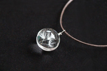 FOMALHAUT-Real-Dandelion-Jewelry-Crystal-Glass-Ball-Dandelion-Necklace-Long-Strip-Leather-Chain-Pendant-Necklaces-For-Women-3