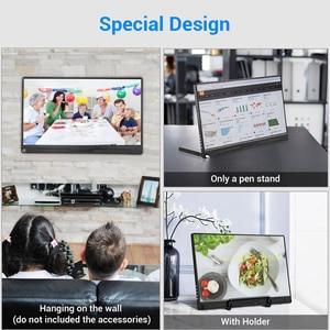 """Image 4 - 13.3 """"4 K taşınabilir monitör FHD 3840x2160 IPS tipi C LCD HDMI monitör giriş tipi c dahili hoparlör ekran oyun monitörü"""