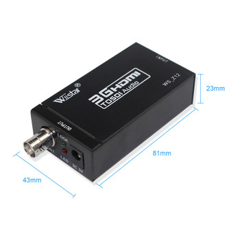 Wiistar 3G HDMI to SDI Converter SD/HD/3G-SDI 1080p HDMI to SDI Adapter Video Converter with Power Adapter mini HDMI2SDI