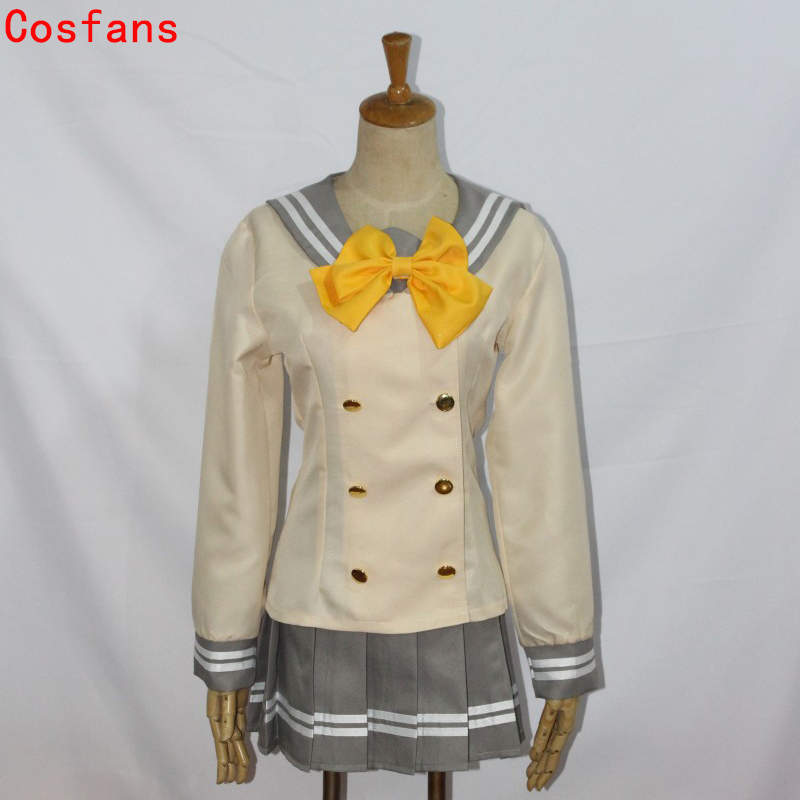 LoveLive Sunshine Aqours full member Gao Hai thousand song sailor suit Tsushima Yoshiko Cosplay Costume Japanese Anime Love live