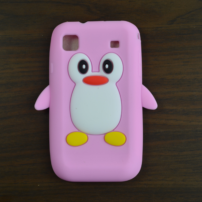 For Samsung Galaxy S i9000 9000/ i9001 Galaxy S Plus cover case Cute Cartoon 3D Penguin Silicon Soft Back Cover Skin Case ...