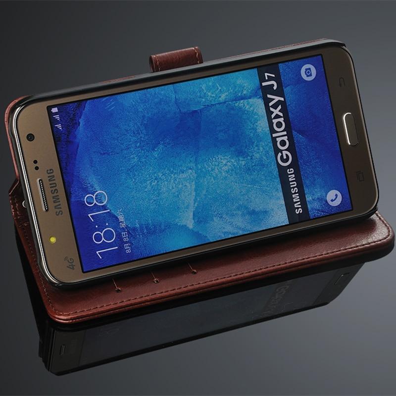 Untuk fundas Samsung J7 pemegang kartu kasus penutup untuk Samsung - Aksesori dan suku cadang ponsel - Foto 5