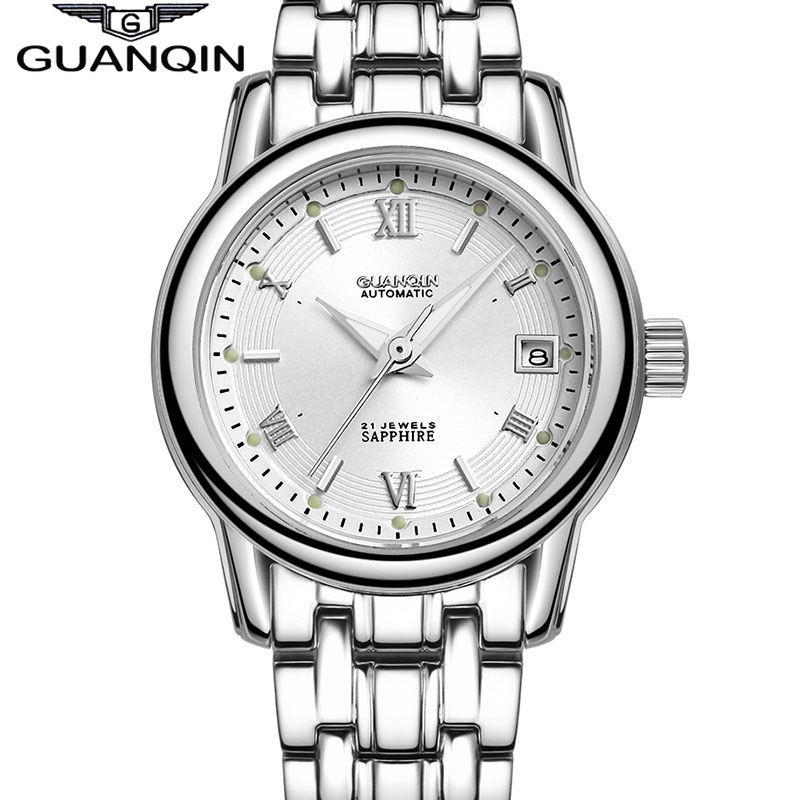 2014 New Fashion Women Dress Wristwatch Luxury Brand QUANQIN Lady Waterproof Business Automatic Mechanical Watch Free Shipping winner woman s watch fashion lady design brand automatic dress wristwatch wrl8011m3g3