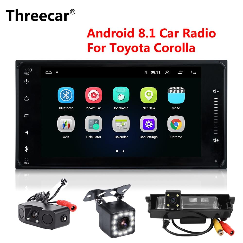 Autoradio Android 8.1 Double din pour Toyota Terios vieille Corolla Camry wifi Bluetooth Navigation GPS universel Radio capacitif