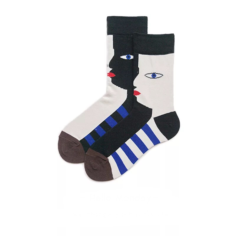 Impartial Fouretaw 1 Pair Street Fashion Japanese Style Cotton Winter Autumn Unisex Personality Lover Tide Artist Design Mens Long Socks Men's Socks