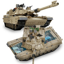 1507pcs New Compatible LegoINGlys Military Tank Building Blocks M1A2 ABRAMS MBT 1 Change 2 Logoed Tank Models Christmas Toys(China)
