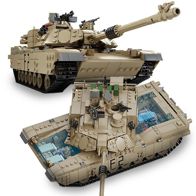 1507pcs New Compatible LegoINGlys Military Tank Building Blocks M1A2 ABRAMS MBT 1 Change 2 Logoed Tank Models Christmas Toys