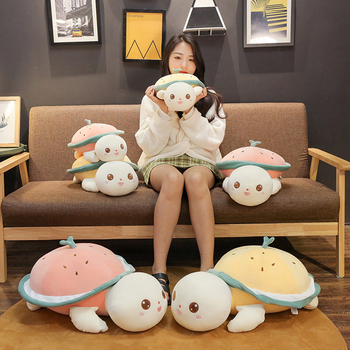 Special Price 40/50/65cm Cute Cartoon Tortoise Lovers Plush Fruit Turtle Toys Soft Baby Doll Nice Gift For Children Christmas Gift For Girls — stackexchange