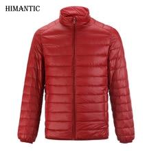 Jacket Men Casual Warm Solide Atmungsaktiv Ente Daunenjacke Mens Lightweight parka hombre jaqueta Plus größe Mantel