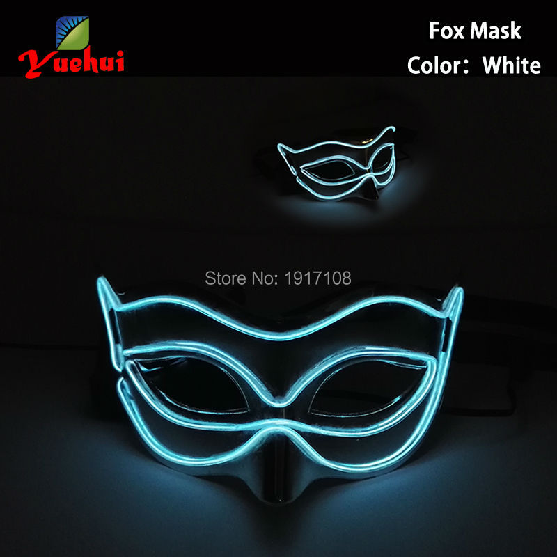 New Products EL Wire Luminous full Mask Led Neon Mask Illuminate Flashing Halloween Masquerade Party Masks ...