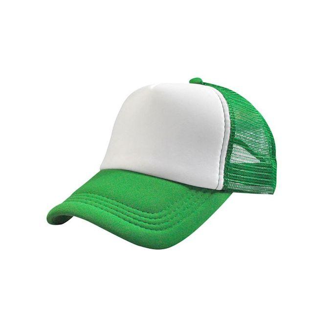 e35f41168ec4e Men Good-looking Adjustable Baseball Cap Trucker Hat Blank Curved Hat Mesh  Plain Color Cap