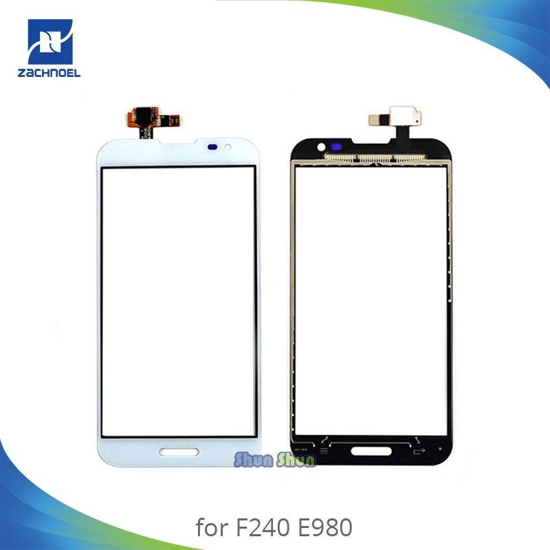 5.5 ''Dello Schermo per LG Optimus G Pro E980 E985 F240 Parte Anteriore del Sensore di Tocco Digitale Dello Schermo Obiettivo di Vetro del Pannello Nero bianco di Ricambio