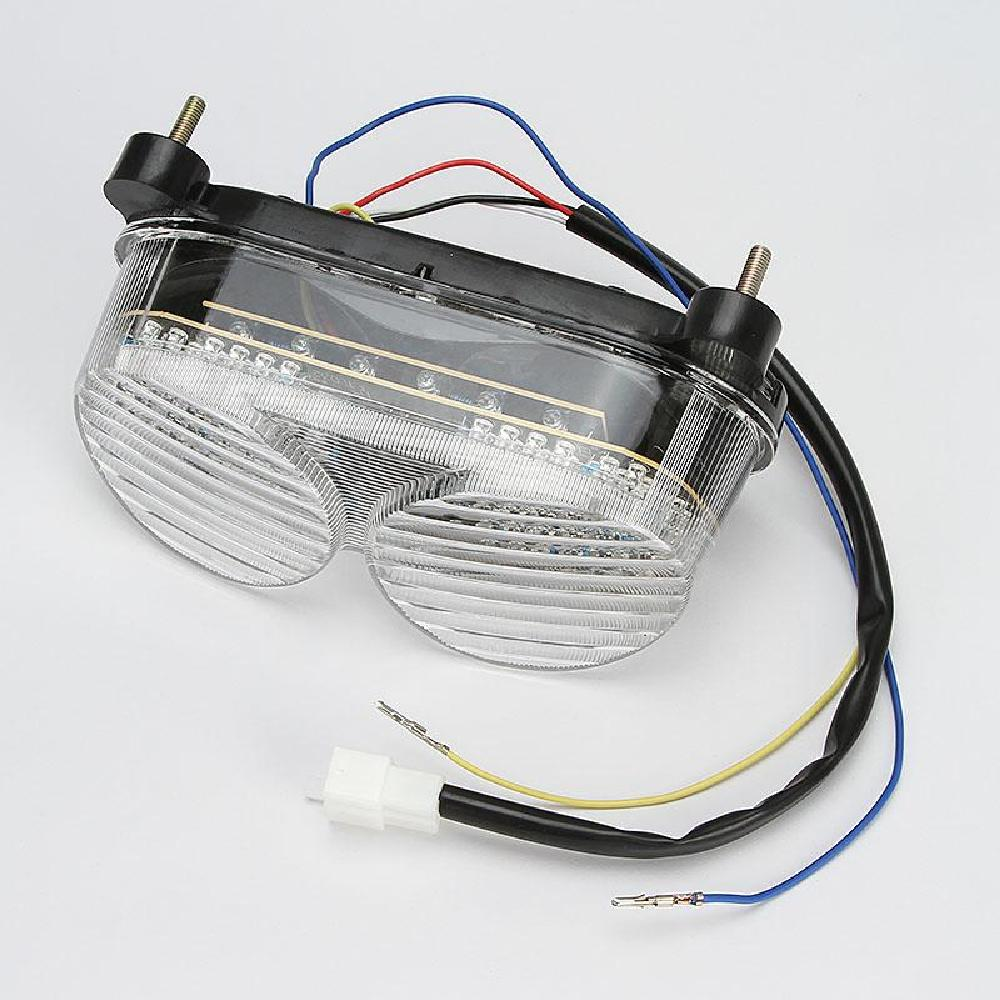 Ironwalls Clear Lens Motorcycle Abs Tail Light Integrated