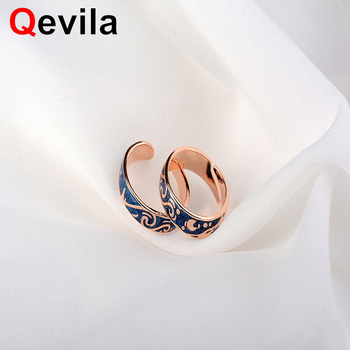 Qevila Van Gogh Starry Sky Open Lover Ring For Women Romantic Valentine Day Jewelry