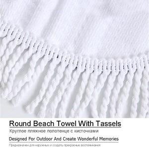 Image 5 - Пляжные полотенца с изображением цветов мандалы, пляжные полотенца с кисточками из микрофибры, круглые полотенца для ванной, летние спортивные полотенца для йоги, пикника, Toalla De Playa
