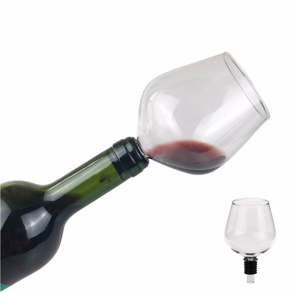 Eflying lion verre à vin rouge avec joint Silicome, boire directement de la bouteille, 260 ml