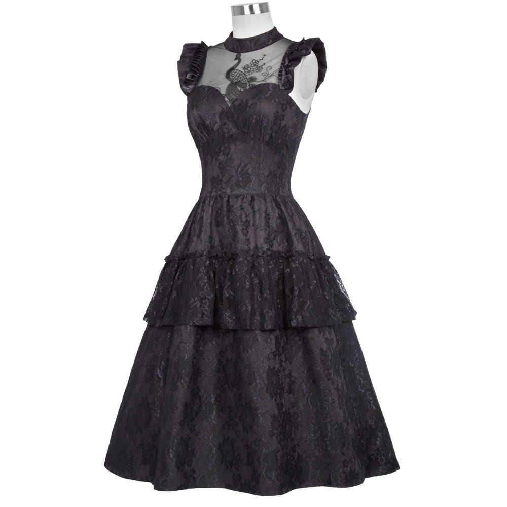 bdbaef9241 ... Belle Poque 40s 50s Vintage Victorian Steampunk Gothic Style Women  Dress 2018 Summer Ladies Elegant Ruffled ...