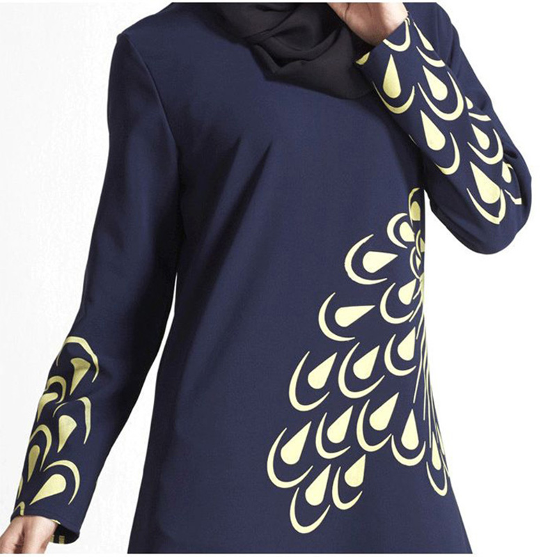 malaysia muslim dress abaya turkey islamic women feather print dresses pictures jilbab clothes burka lady turkish women clothing in islamic clothing from