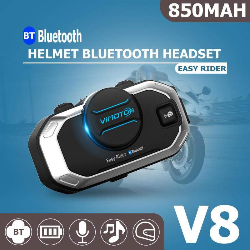 V8 Motorcycle Helmet Intercom Interphone Headset Waterproof Wireless Bluetooth Intercom HeadsetV8 Motorcycle Helmet Intercom Interphone Headset Waterproof Wireless Bluetooth Intercom Headset