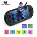 """5.0 """"Consolas de jogos Portáteis de Tela grande 8 GB Portátil Embutido 300 Nes Jogos MP3 MP4 Criança Game Console Frete Grátis"""