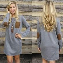 Woman Fashion Clothes Spring Long Sleeve Dress Women Vintage Loose Dress O Neck Casual Tshirt Dress