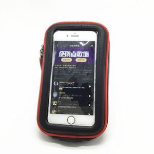 Image 4 - Wasserdichte Zipper Fall mit 1 zoll Ball + 6,5 cm Doppel Buchse Arm für 1 Zoll Ball Basen + hinten Spiegel Halterung für Smartphones