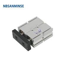 Nbsanminse tn диаметр 16 мм двойного действия с магнитом пневматический