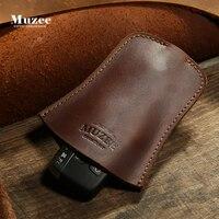 MUZEE Genuine Leather Keychain Men Women Wallet Cow Split Car Key Bag Wallet Hanging Multi Function Key Holder
