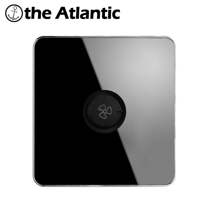 Atlantic Brand Luxury Fan Speed Controller Wall Switch Interruptor  Acrylic Crystal panle Power Conmutador 10A AC100V-250V atlantic brand double tel socket luxury wall telephone outlet acrylic crystal mirror panel electrical jack