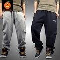 Envío libre más el tamaño L-5XL invierno fleece para hombre hiphop pantalones pantalones de algodón tops de los hombres de marca famosa de los hombres grandes Adicionales pant
