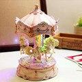 Luminous carousel music box  for birthday Christmas new year and wedding gift box romantic lovers girlfriend gifts free shipping