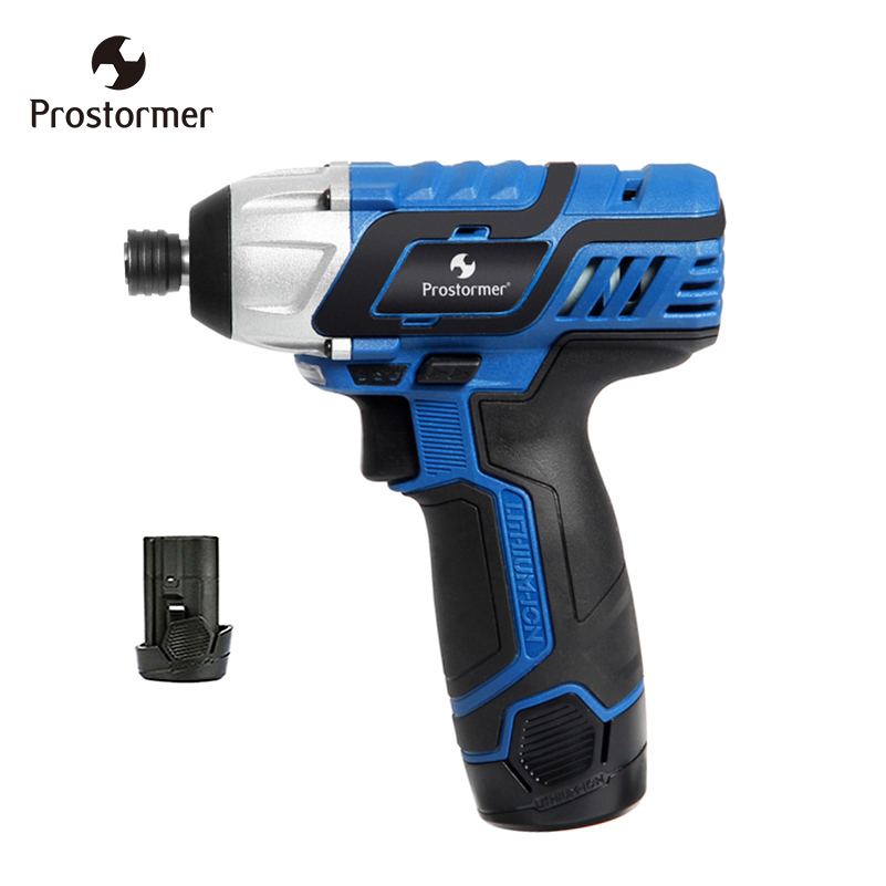 цена на Prostormer 12V Handheld Electrical driver screwdriver Charger cordless screw Electric power tools with 2 batteries