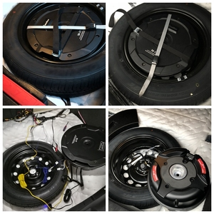 Image 5 - Caisson de basses de voiture, de qualité Active, sous pneu de rechange, 380W, amplificateur de puissance intégré, pour coffre de voiture, haut parleur pur