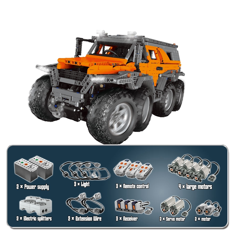 LEPIN 23011 Avtoros Shaman ATV Technic Creator MOC Motor Building Blocks Bricks Toys DIY For Kids Compatible legoings Car Truck сумка thule subterra weekender duffel 60l tswd 360 dark shadow 3203519