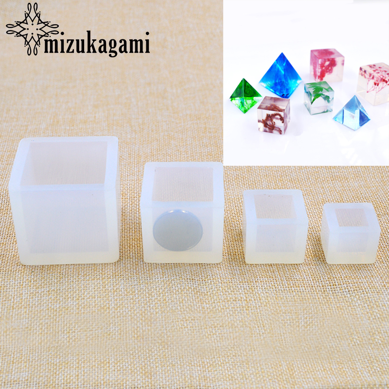 1pcs UV Resin Jewelry Liquid Silicone Mold Transparent Cube Resin Charms Mold For DIY Intersperse Decorate Making Jewelry Gifts