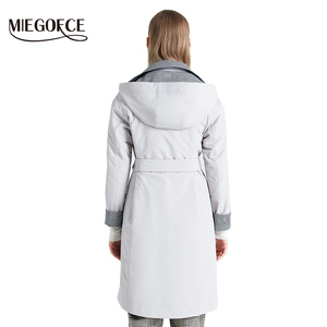 Image 4 - MIEGOFCE 2019 New Product Trench Spring Autumn Female Windproof Warm Female Coat European and American Model Windbreaker