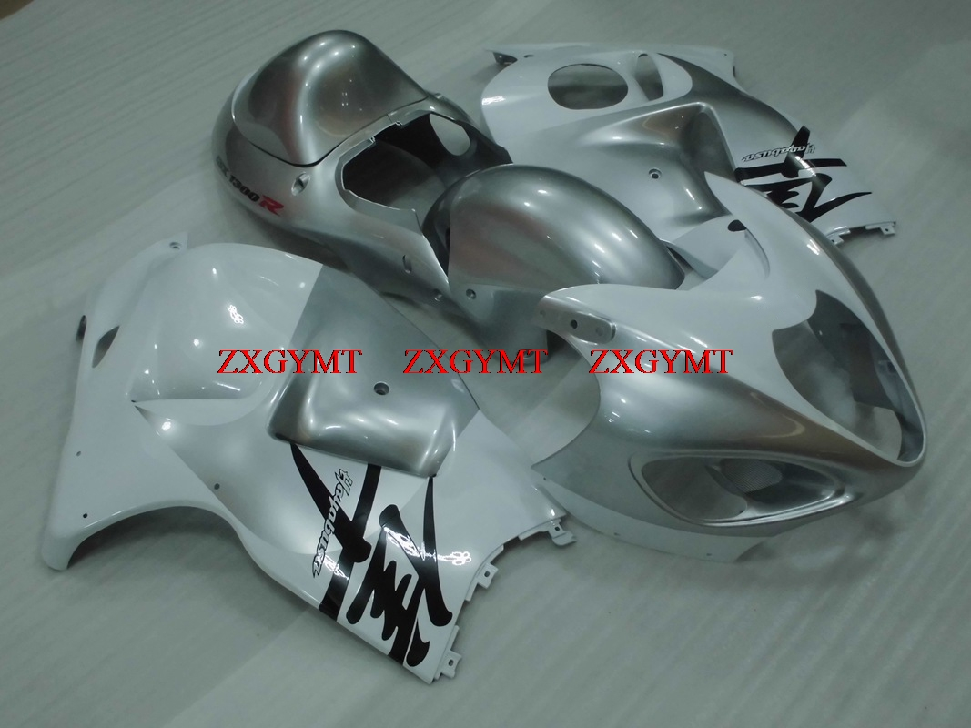 Fairings for HAYABUSA 1997 - 2007 Fairings GSX R1300 99 00 Silvery White Bodywork Gsx 1300R 2001Fairings for HAYABUSA 1997 - 2007 Fairings GSX R1300 99 00 Silvery White Bodywork Gsx 1300R 2001