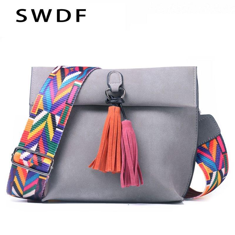 NEW Vintage Tassel Women Shoulder Bags Colorful