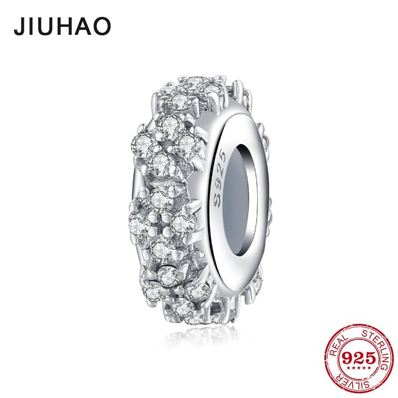 Perles d'espacement 925 en argent Sterling fleur perles de Ziconia accessoires pour femmes à la mode 2018 Fit Original bracelet à breloques Pandora bijoux