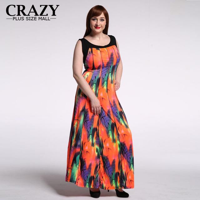 Plus Size Bohemian Women Maxi Dress