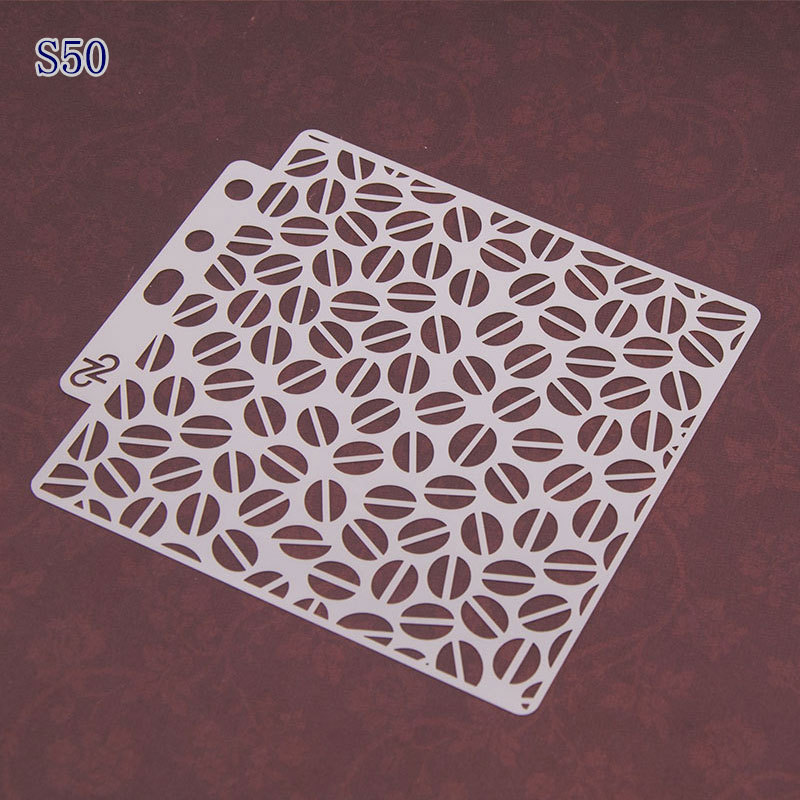 Coffee Beans Layering Stencils For Diy Scrapbook/photo Album Decorative Embossing Coloring,painting Stencil,home Decor