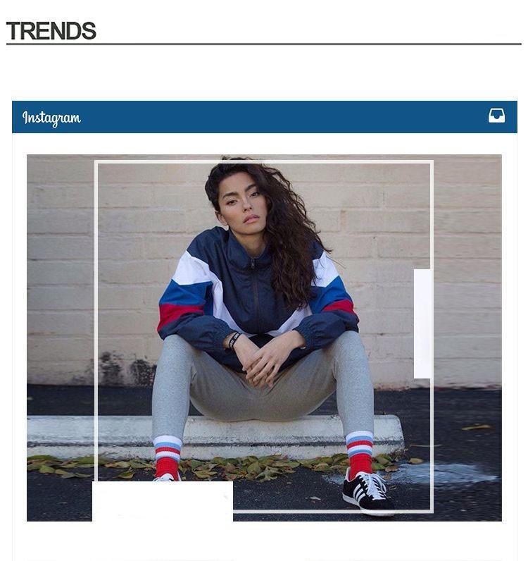 Men Jacket Gosha Rubchinskiy Classic Navy Tricolor Sport Long sleeve Windbreaker Jackets Hiphop Skateboards Couples Outwear S-XL (2)
