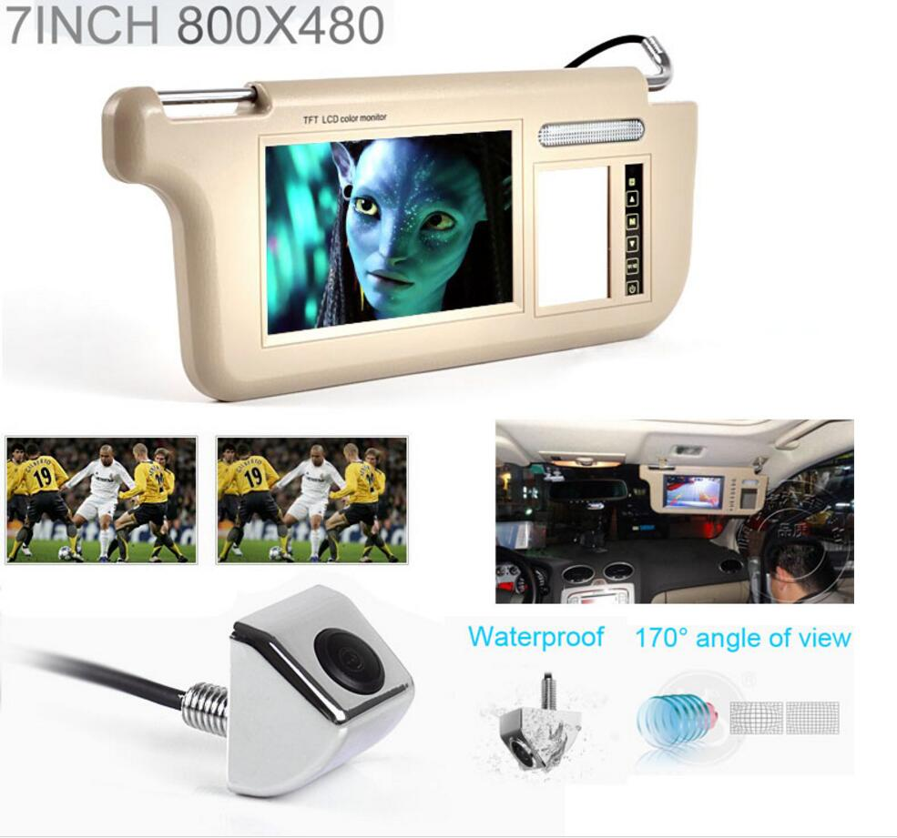 Touch 7inch Car Sun visor DVD/TV Media Rear View Silver Backup Monitor/Camera kits touch 7inch car sun visor dvd tv media screen&rear view silver backup monitor camera kits