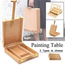 Artista de caballete arte dibujo pintura de mesa de madera retráctil caja de escritorio maleta pintura Hardware suministros de arte