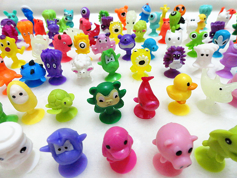 O for U Mini Sucker Dolls Marine Land Strange Animal Cupule Suckers kids Action Toy Capsule Model Suction Cup Puppets 50 Pcs/lot ...