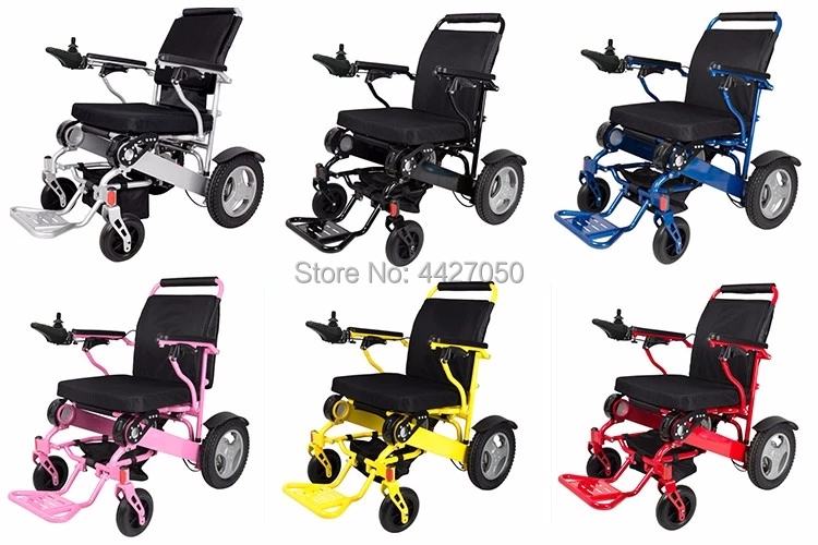Portable folding lightweight electric wheelchair with lithium battery could carry on the airplane FREE SHIPPING