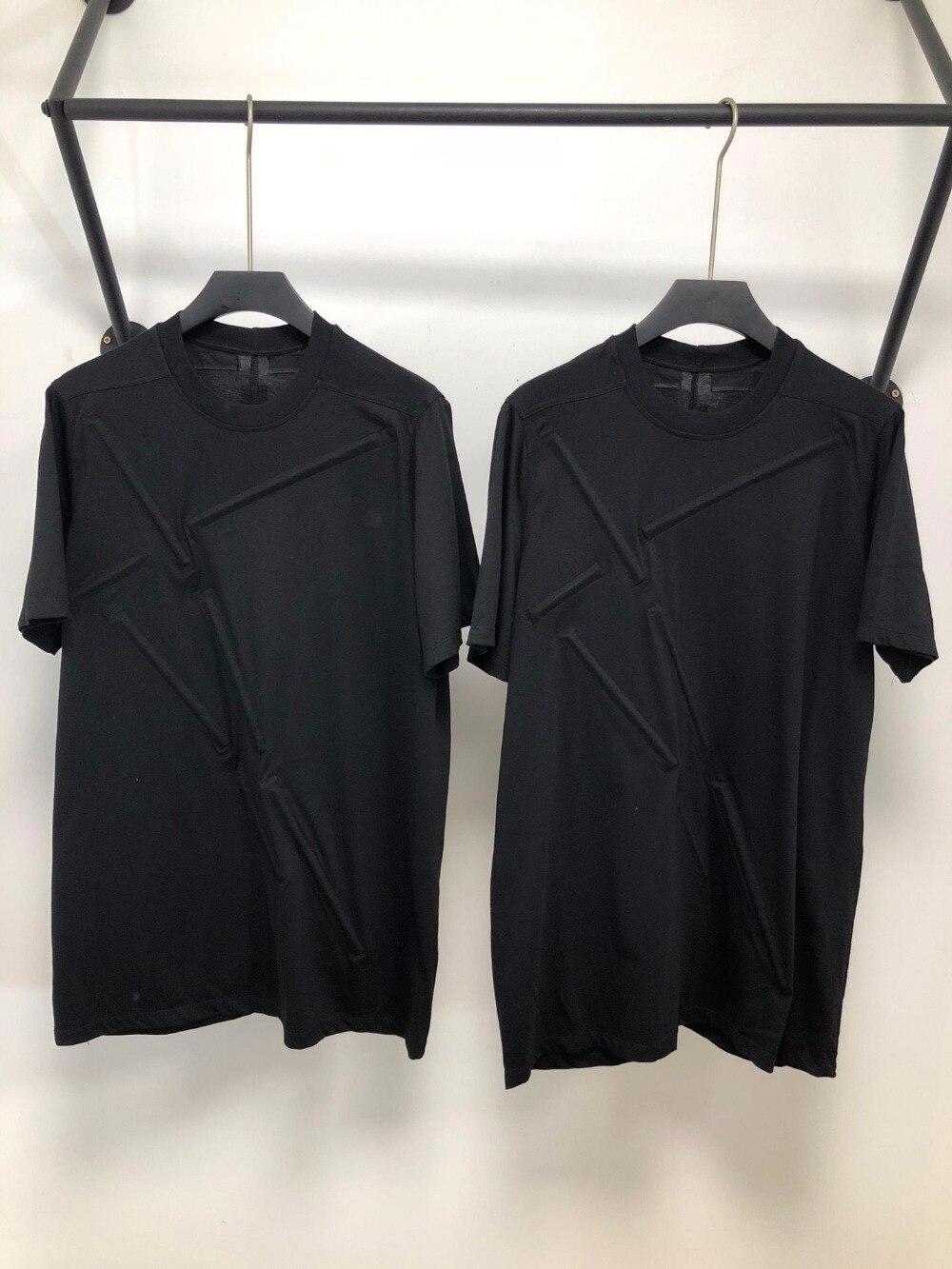 19ss Owen seak Mannen T shirt 100% Katoen Gothic Stijl Herenkleding Oversize Tops Tees Zomer Vrouwen Tees Black t shirt-in T-shirts van Mannenkleding op  Groep 1