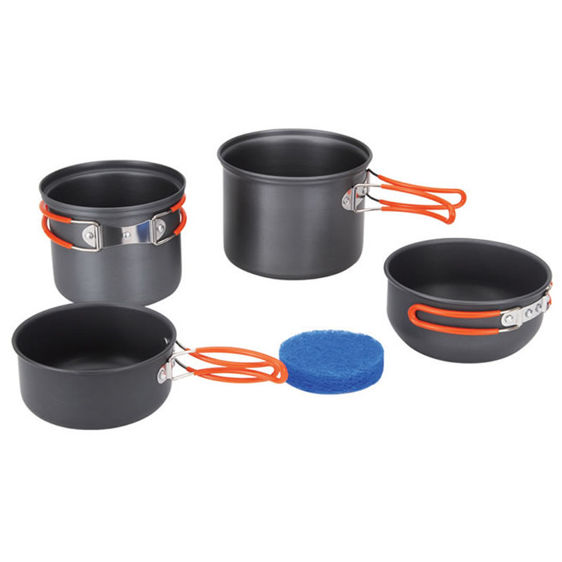 Fire-Maple Portable Outdoor 4Pcs/Set Travel Camping 2-3 People Picnic Cookware Pot Bowl For Stove FMC-208 стоимость