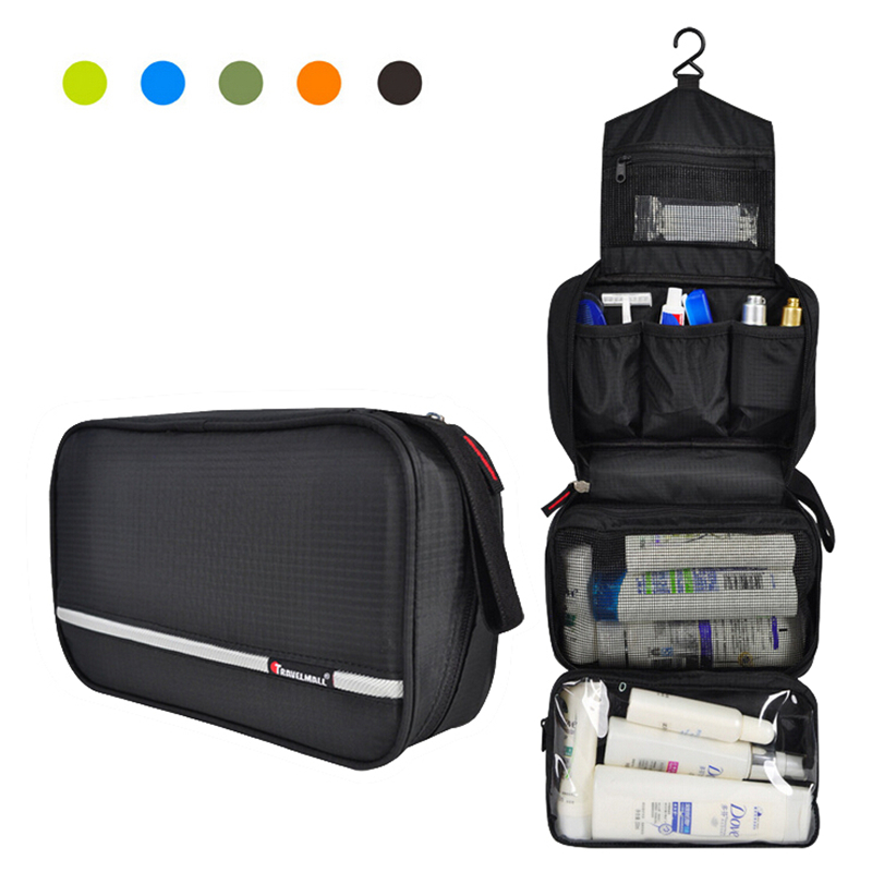 992fca4a1092 US $12.69 53% OFF|Travel Cosmetic Bag Men Wash Shaving Bag Waterproof Women  toiletry Storage Large Capacity Vanity organizer toilet bag makeup kit-in  ...